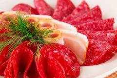 Salami and bacon Royalty Free Stock Photo