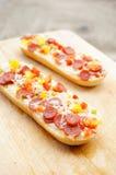 Salami baguettes Stock Photo