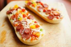 Salami baguettes Stock Image