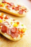 Salami baguettes Stock Photography