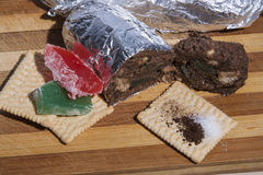 Salami biscuit ingredients Stock Photography