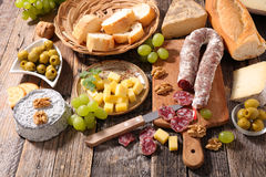 Salami on board Royalty Free Stock Images