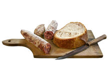 Salami and bread Royalty Free Stock Image