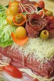 Salami cake Royalty Free Stock Images