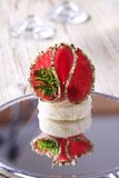 Salami canape Royalty Free Stock Photo