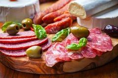 Salami catering platter Stock Image
