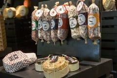 Salami chez Tuttofood 2019 à Milan, Italie photographie stock
