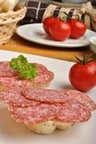 salami chlebowy półkowy makowy ziarno Obrazy Stock