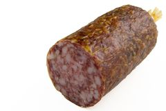 Salami chunk Stock Photo