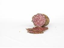 Salami condimentado cortado Imagen de archivo