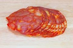 Salami cortado Foto de Stock Royalty Free