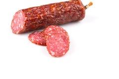 Salami coupé en tranches photo libre de droits