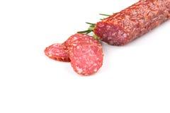 Salami coupé en tranches image libre de droits