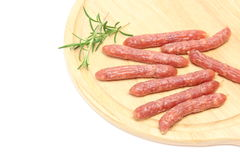 Salami on a cutting board Stock Image