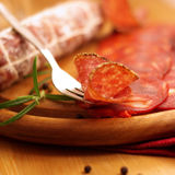 Salami délicieux Photos stock