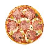 Salami da pizza foto de stock royalty free
