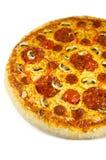Salami de la pizza Fotos de archivo libres de regalías