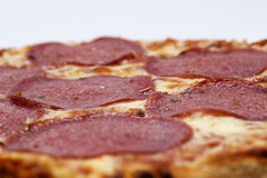 Salami de la pizza Fotografía de archivo libre de regalías