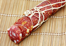 Salami de la salchicha Foto de archivo