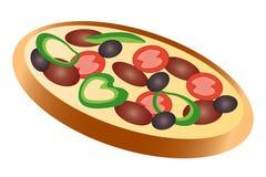 Salami de pizza illustration stock