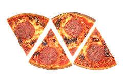 Salami de pizza. Photo libre de droits