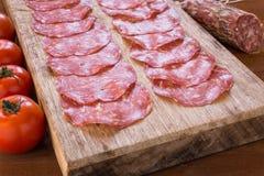 Salami de sanglier, cuisine sarde image libre de droits