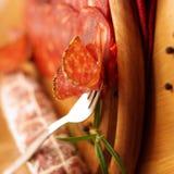 Salami delicioso fotos de stock