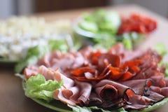 Salami dinner Stock Photos