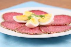 Salami e ovos de PepperPepper fotos de stock