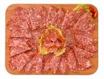 Salami Ferrara típico, Italy fotos de stock