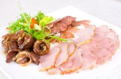 Salami ham meat Royalty Free Stock Photography