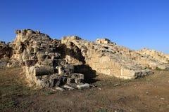 Salami (het Oude Grieks: ΣαΓ αΠ¼ Î¯Ï ') is oude Griekse city-state op de oostkust van Cyprus Stock Fotografie