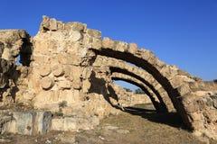 Salami (het Oude Grieks: ΣαΓ αΠ¼ Î¯Ï ') is oude Griekse city-state op de oostkust van Cyprus Royalty-vrije Stock Foto