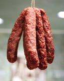 Salami. Salami in Italian store in New York Stock Images
