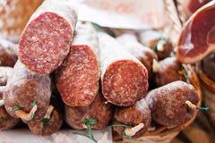 Salami italiano Foto de Stock