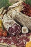 Salami italiano de Parma dos di do coppa Fotografia de Stock