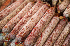 Salami from Italy Royalty Free Stock Photo