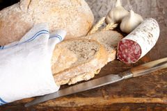 Salami lunch Stock Image