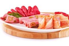 Salami, mortadella and bacon Royalty Free Stock Images