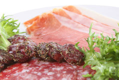 Salami and Parma Ham Stock Image