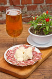Salami and Parmesan Stock Images