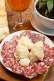 Salami and Parmesan Stock Photo