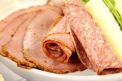 Salami And Pastrami Royalty Free Stock Photo