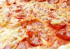 Salami pizza Royalty Free Stock Photo