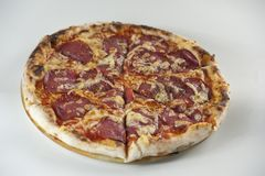 Salami Pizza Stock Image