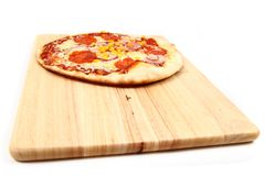 Salami pizza Royalty Free Stock Photos