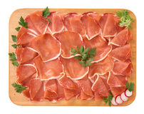 Salami of pork tenderloin Stock Photo