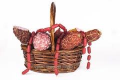 Salami-Produkte Stockfotografie
