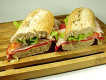 Salami sandwich Stock Image