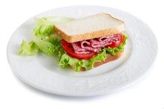 Salami sandwich Stock Photo